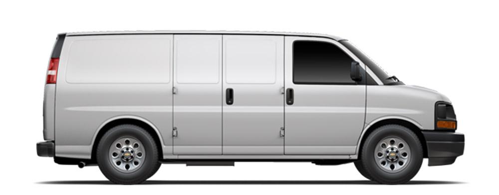 2014 Chevrolet Express on white bg