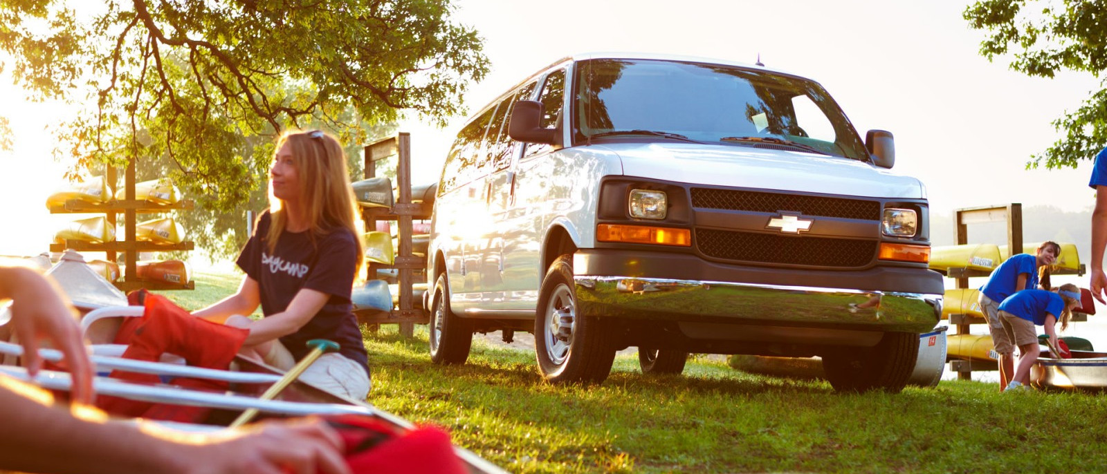 2014 Chevrolet Express Exterior in park white van