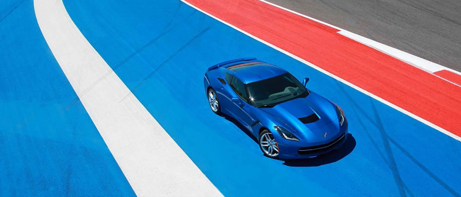 2015 Corvette Stingray on racetrack