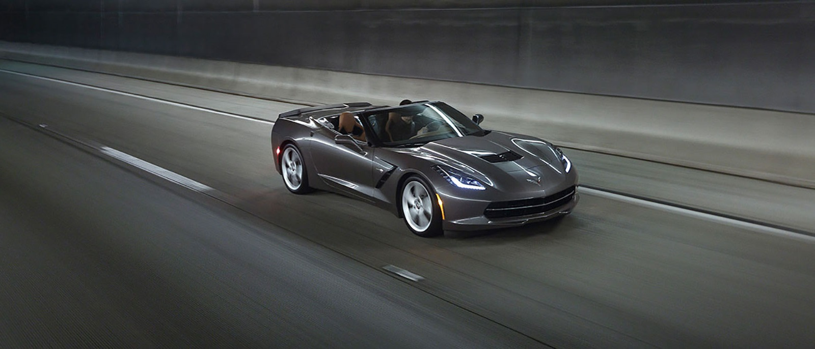 2015 Corvette Stingray on roadway