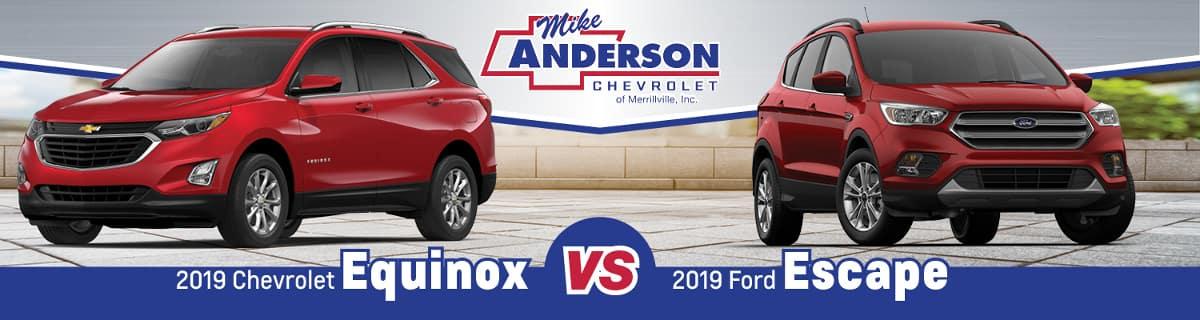 2019 Ford Escape Vs 2019 Chevy Equinox Near Gary In