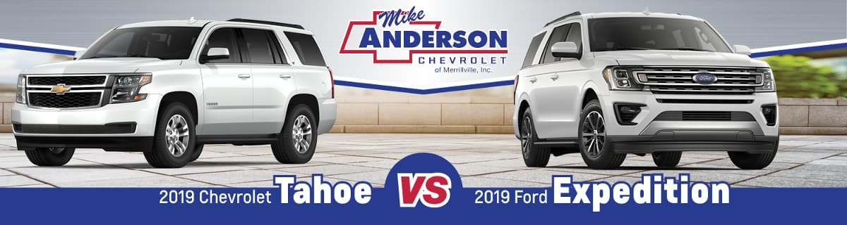 2019 Chevy Tahoe vs. 2019 Ford Expedition