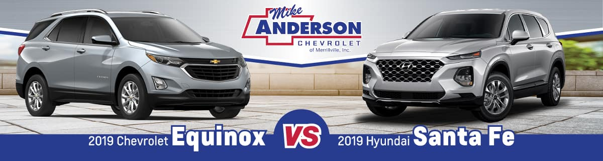 Santa Fe Chevrolet >> 2019 Hyundai Santa Fe Vs 2019 Chevy Equinox Near Gary In