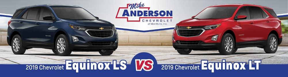 2019 Chevrolet Equinox LS vs. Equinox LT