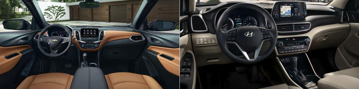 2019 Chevrolet Equinox and Hyundai Tucson Interior