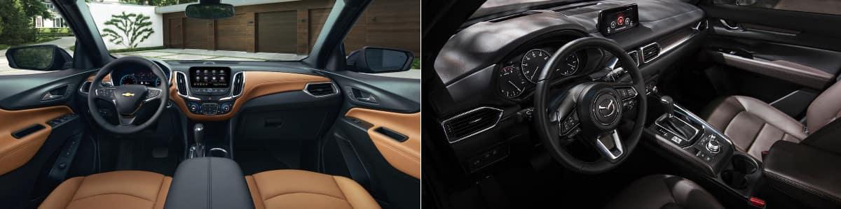 2019 Chevrolet Equinox and Mazda CX-5 Interior