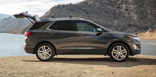 2019 Chevrolet Equinox with rear hatch open