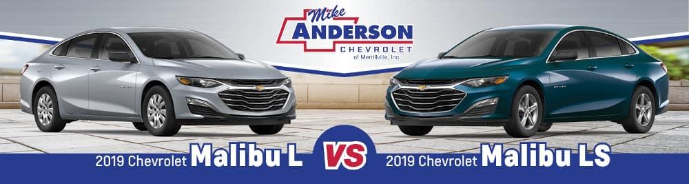2019 Chevy Malibu L vs. Malibu LS