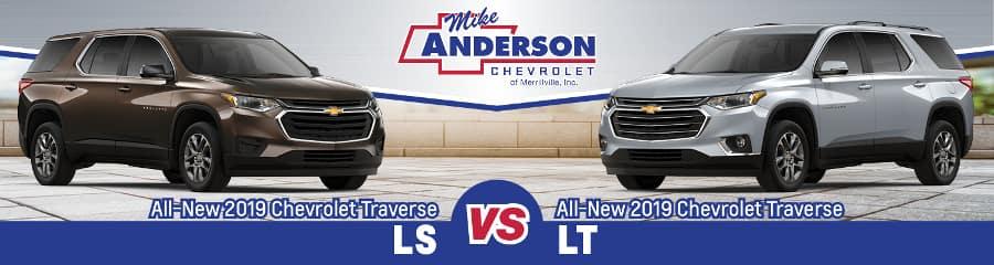 2019 Chevrolet Traverse LS vs. LT
