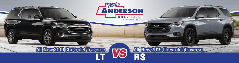 2019 Chevrolet Traverse LT vs. RS