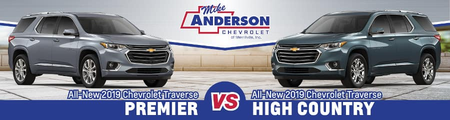 2019 Chevy Traverse Premier Vs High Country Comparison Highland In