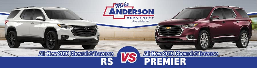 2019 Chevrolet Traverse RS vs Premier