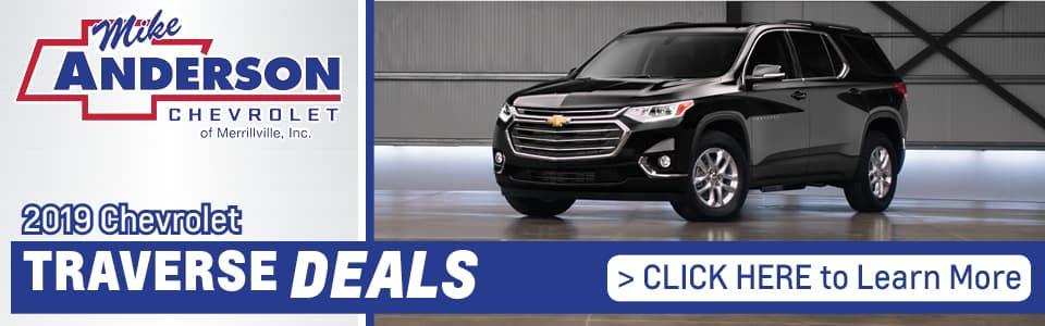 2019 Chevy Traverse Lease Deals banner
