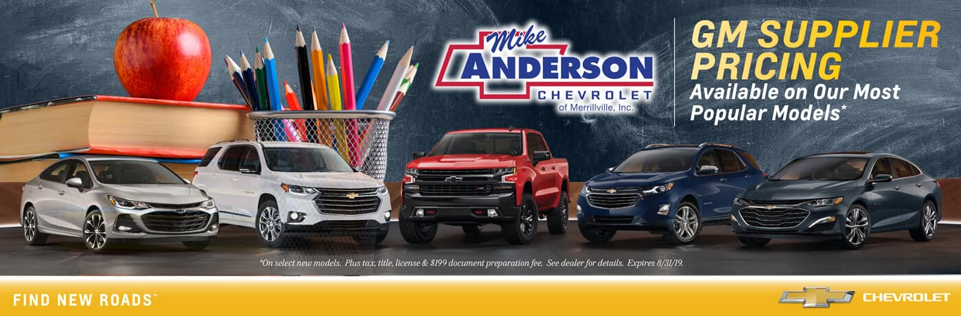 GM Supplier Pricing available on our most popular models