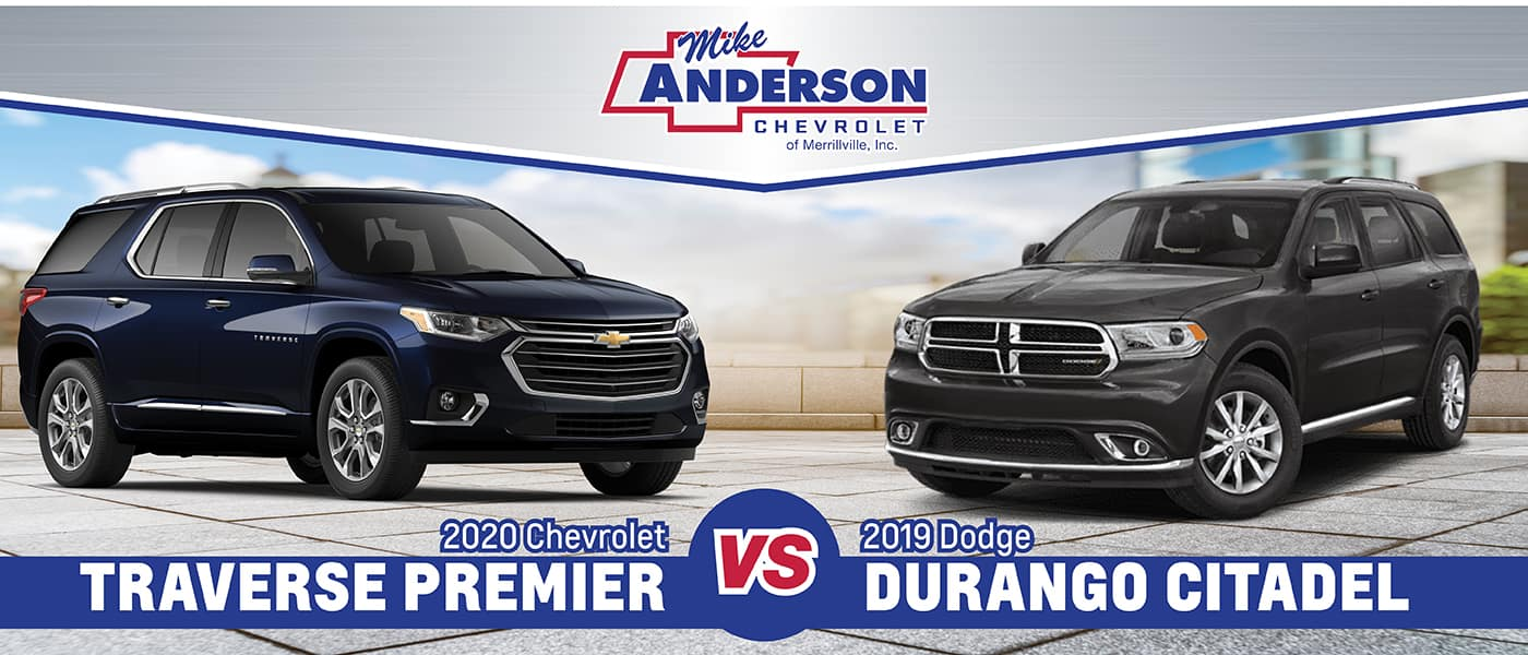 2019 Dodge Durango vs 2020 Chevy Traverse near ...