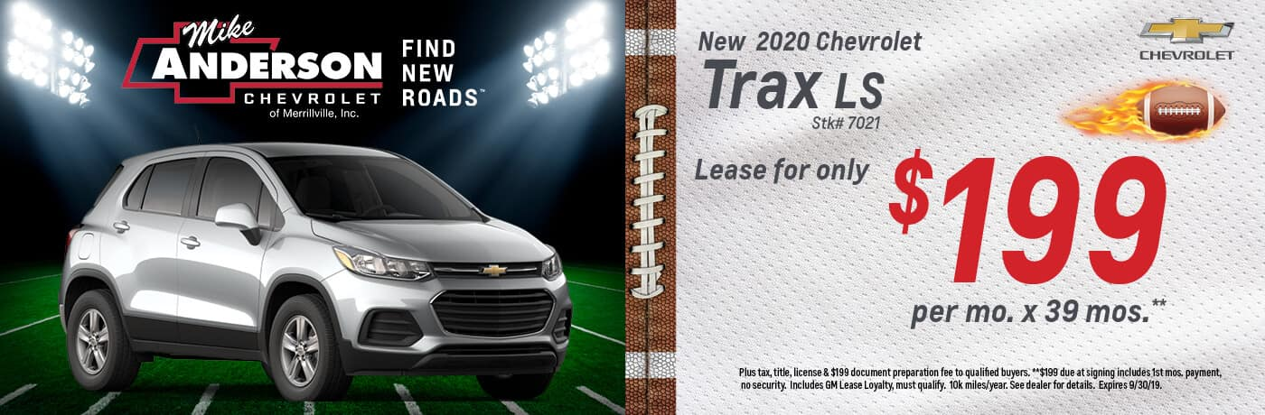 Lease a 2020 Chevrolet Trax for $199/mo. for 39 mos.