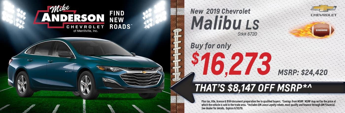 Buy a 2019 Chevrolet Malibu LS for $16,273