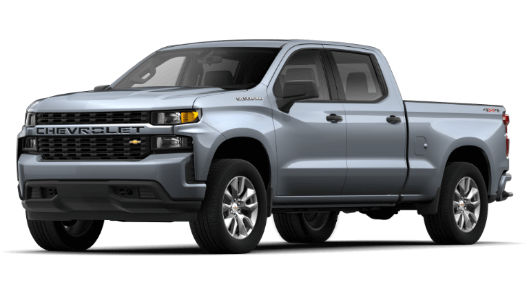 2019 Chevy Silverado Custom in Silver