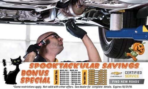 Spooktacular Savings Bonus Special