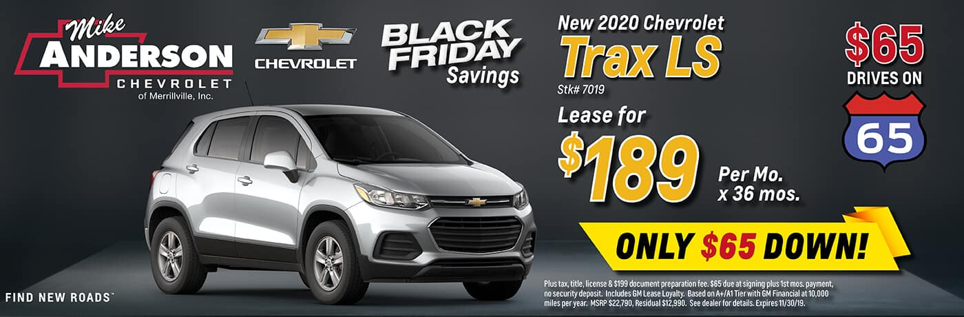 Lease a 2020 Chevrolet Trax LS for $279/mo. for 36 mos.