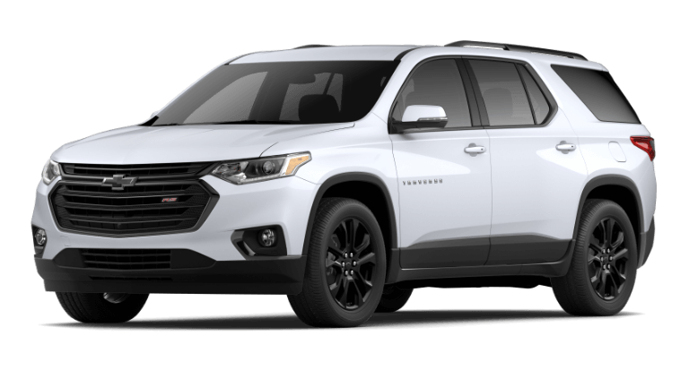 2020 Chevy Traverse RS in Summit White
