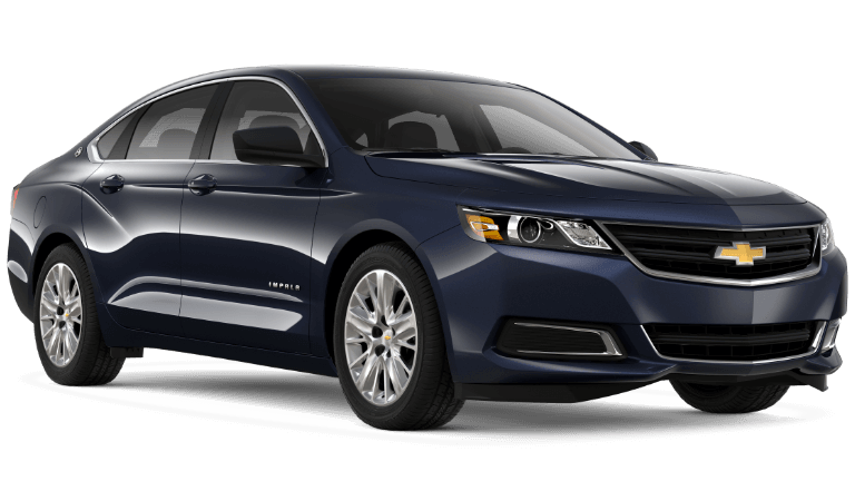 2020 Chevy Impala Premier in dark blue