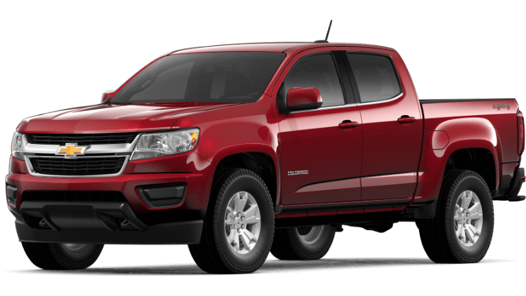 2020 Chevy Colorado LT in red