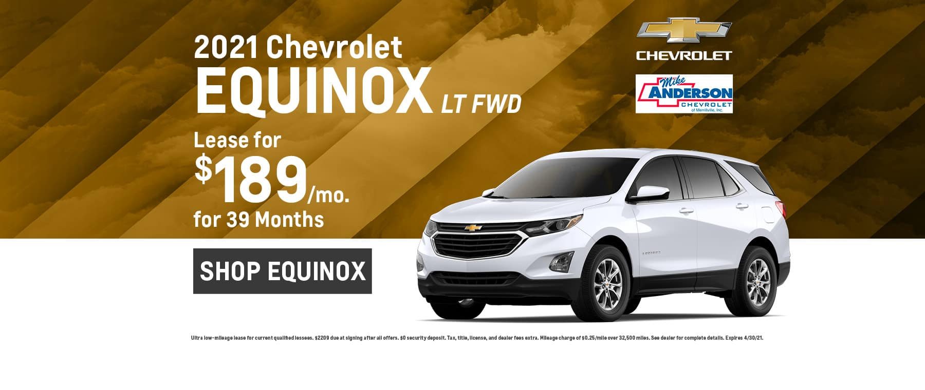 2021 Chevrolet Equinox LT FWD Lease