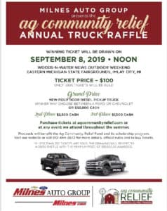 Michigan Ag Relief Win a Truck