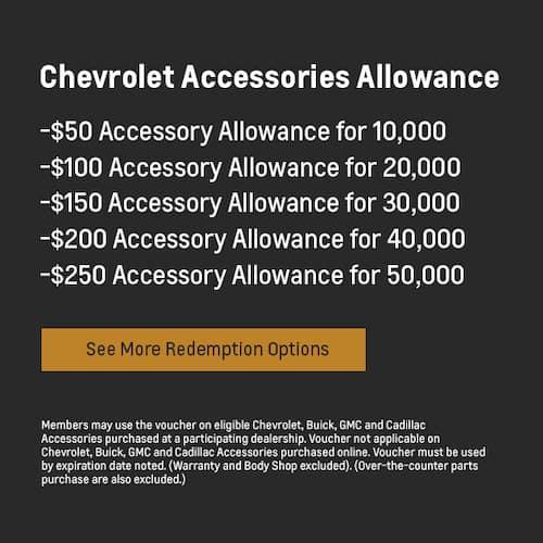 chev accessories allowance