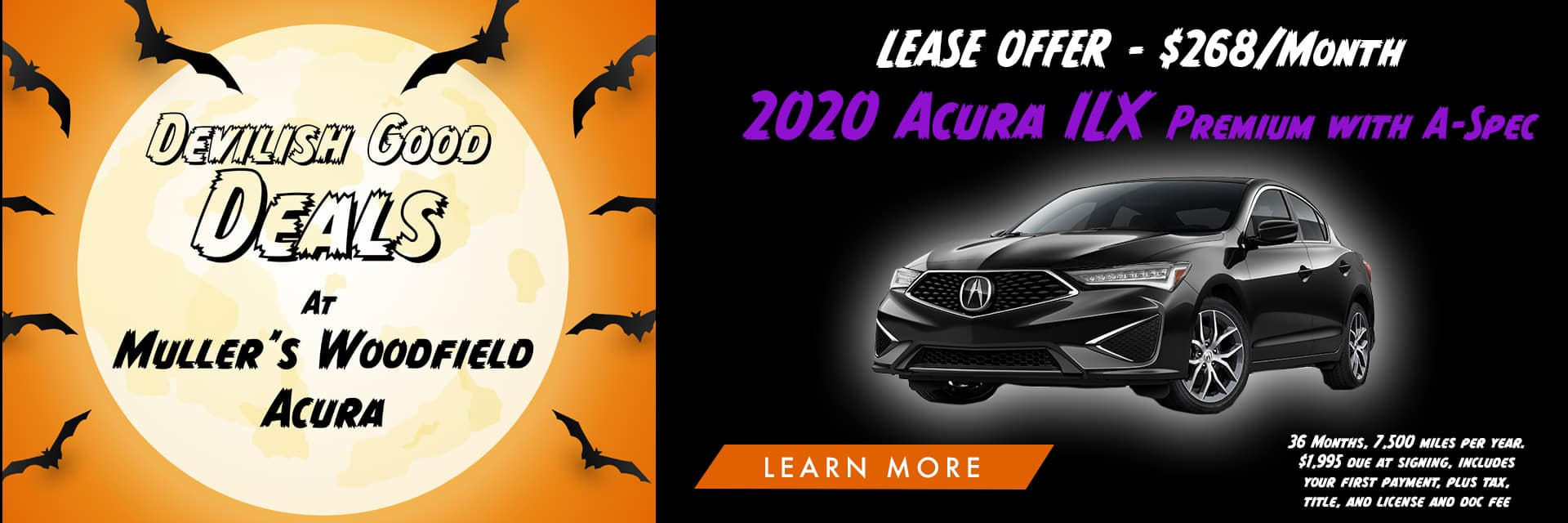 Acura ILX Halloween Banner