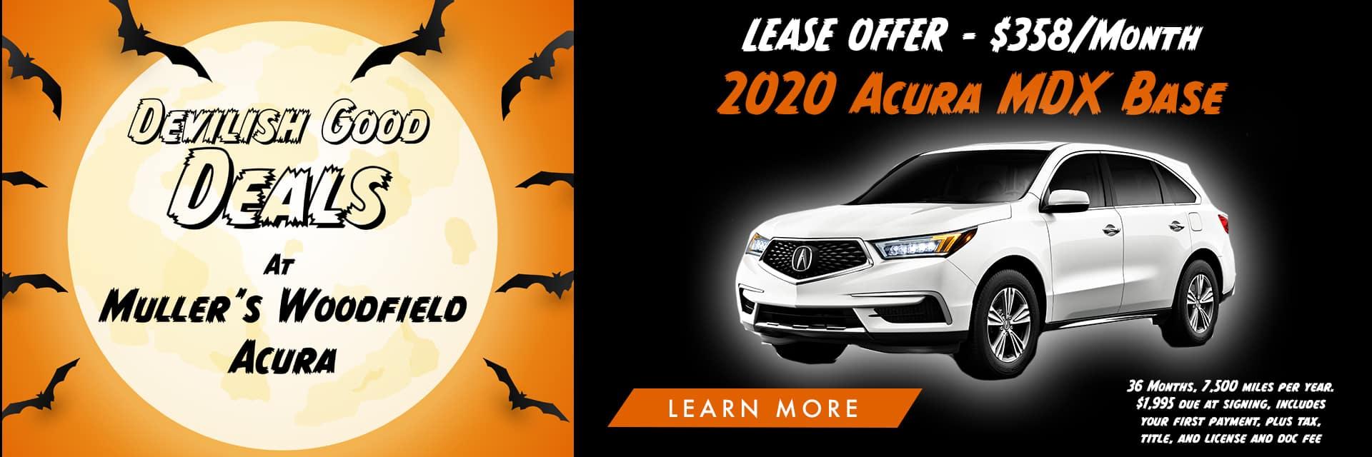 Acura MDX Halloween Banner