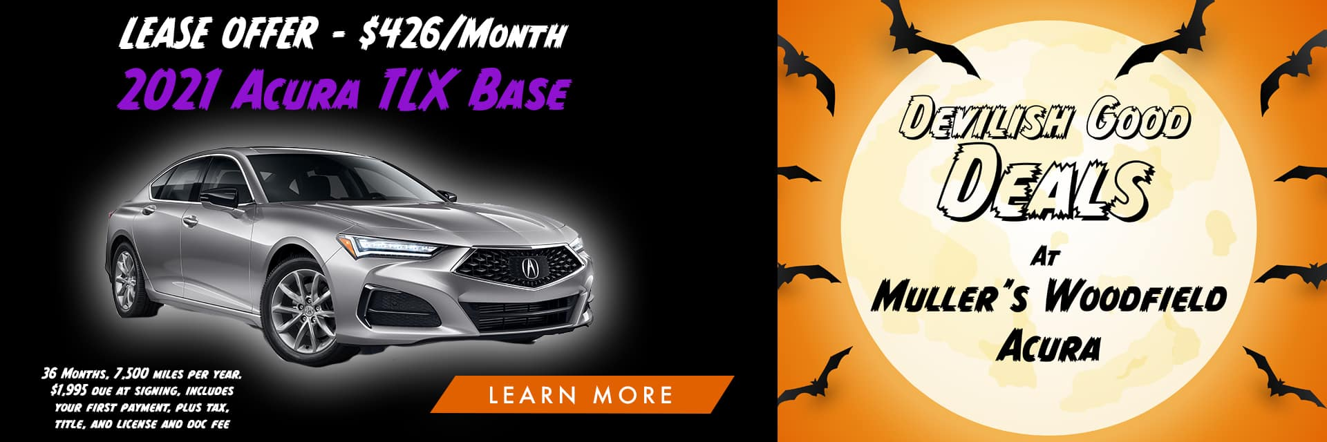 Acura TLX Halloween Banner