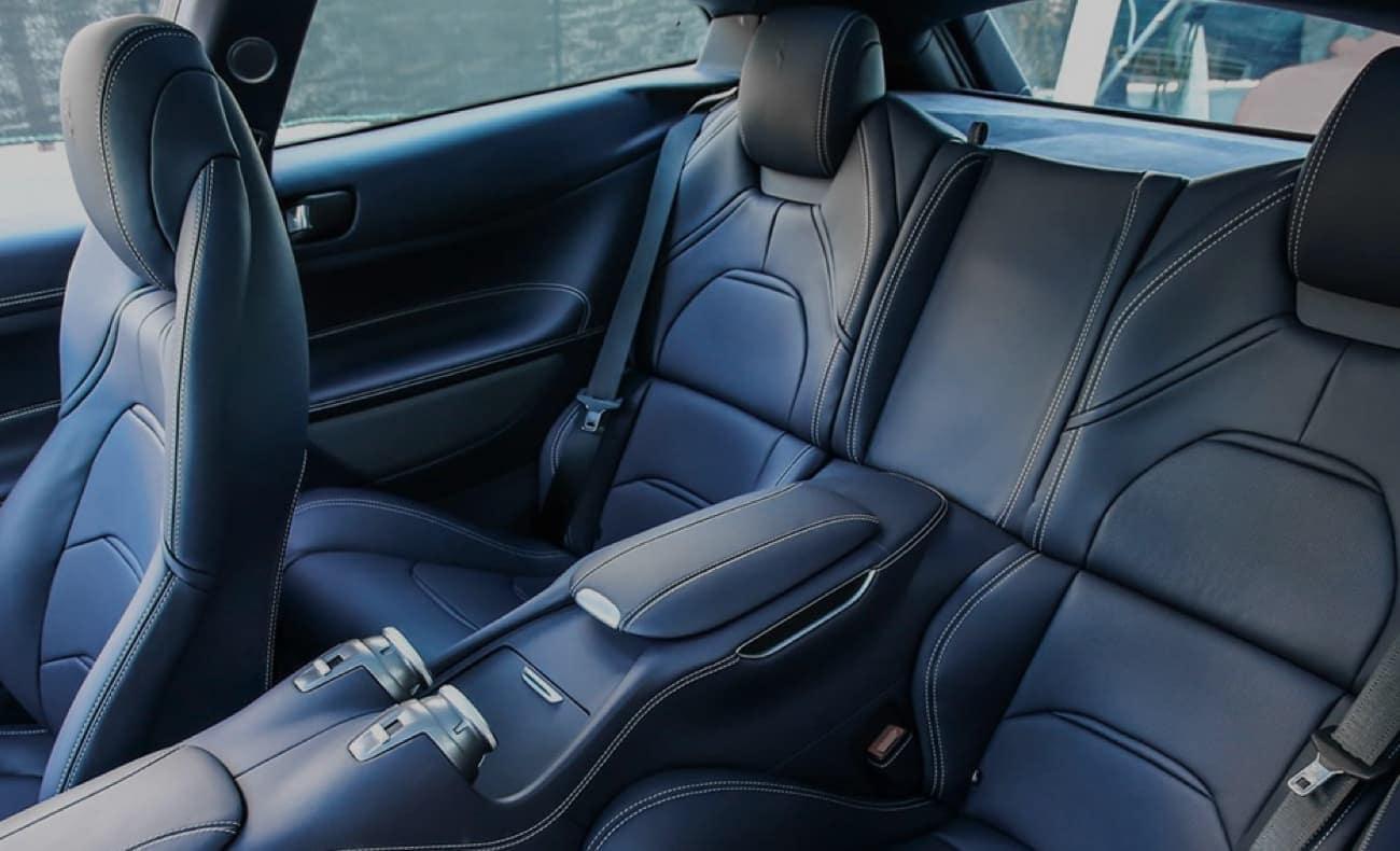 Interior of a Ferrari