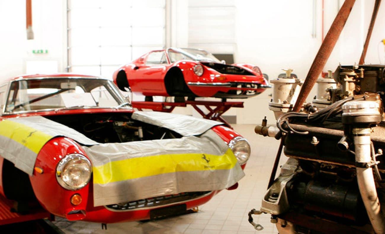 Vintage Ferrari's getting detailed