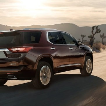 2018 Chevrolet Traverse Driving In Desert