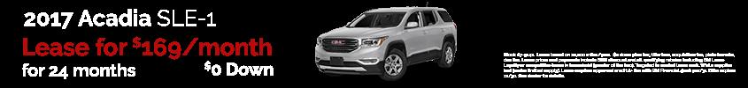 Acadia SLE-1 November Offer Patsy Lou Automotive