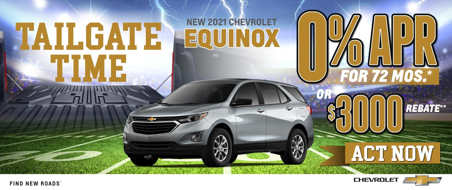 New 2021 Chevy Equinox - 0% APR for 72 months - Act Now