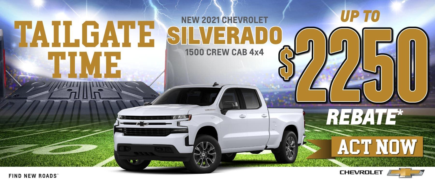 New 2021 Chevy Silverado - $2250 Customer Cash - Act Now