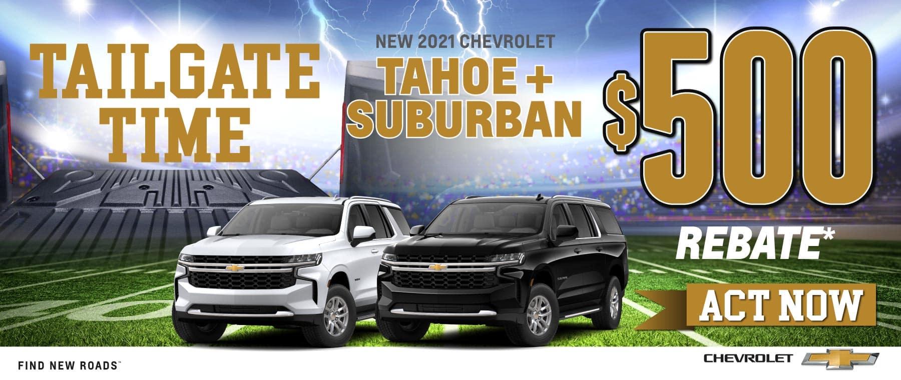 New 2021 Chevrolet Tahoe + Suburban - $500 rebate - Shop Now