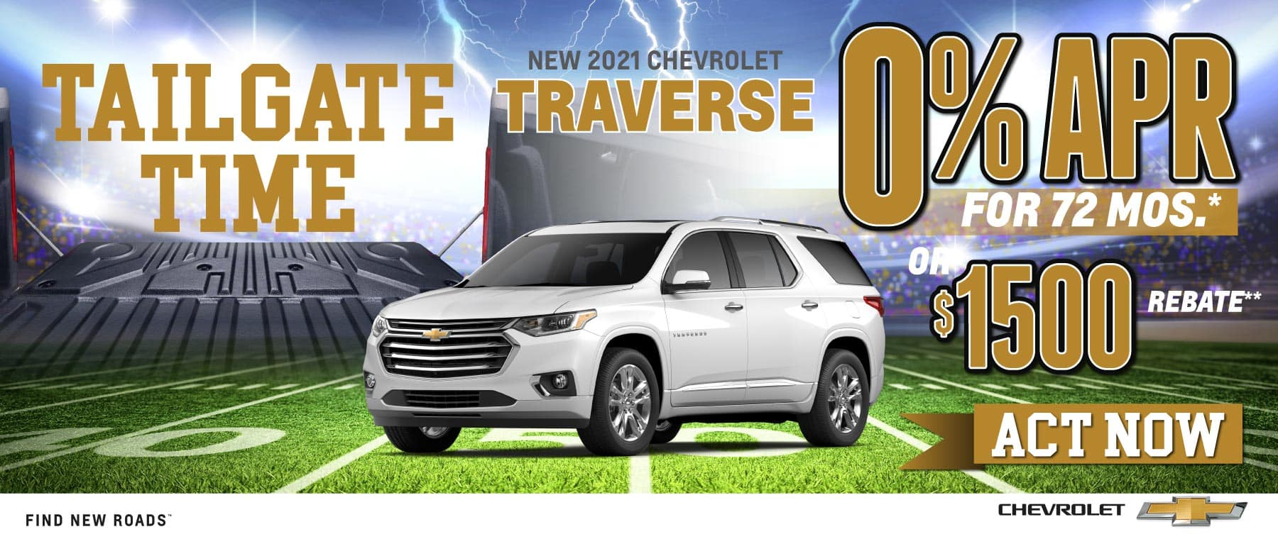 New 2021 Chevy Traverse- 0% APR for 72 months - Act Now