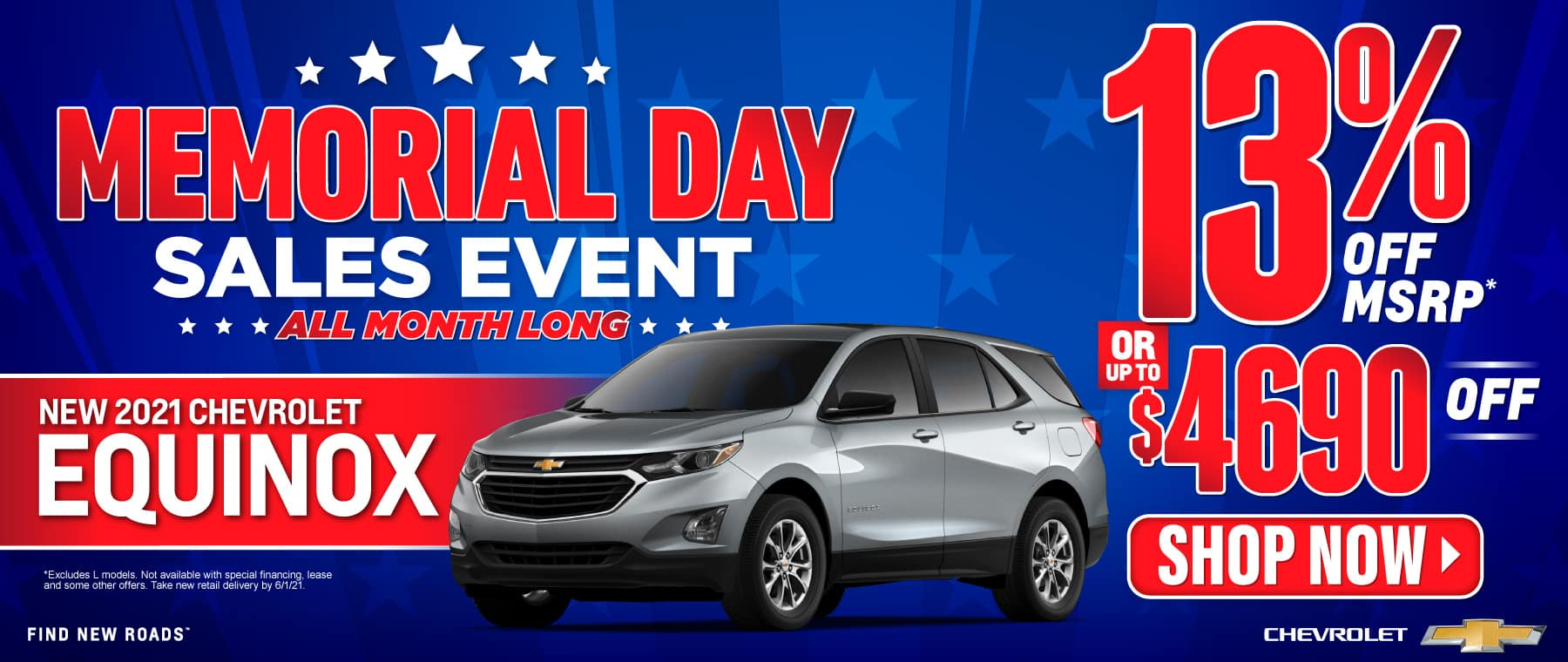 New 2021 Chevy Equinox - 13% off msrp - Act Now