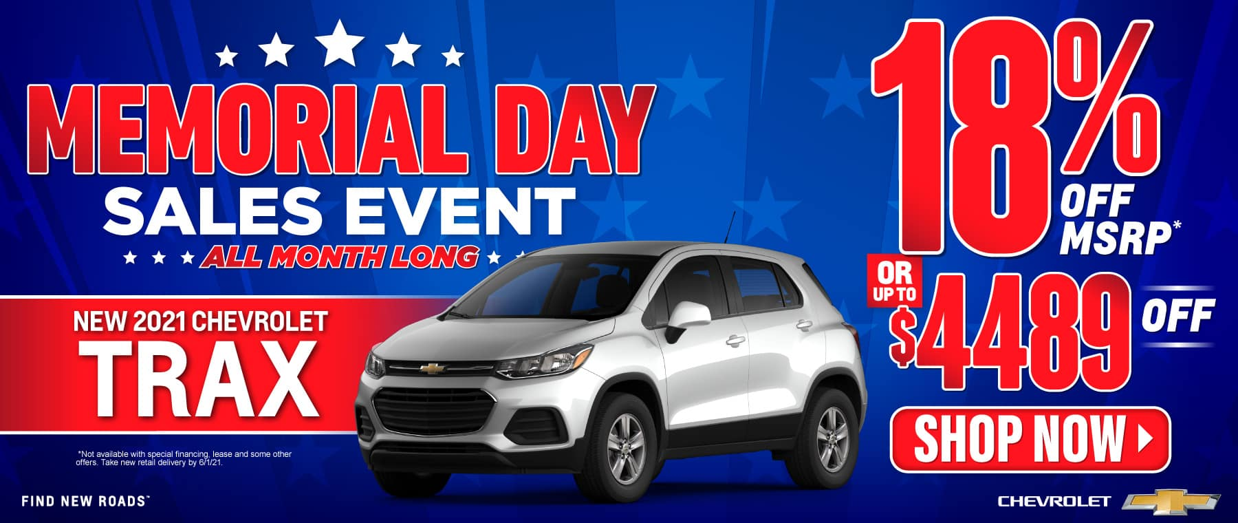 New 2021 Chevy Trax - 18% off msrp - Act Now