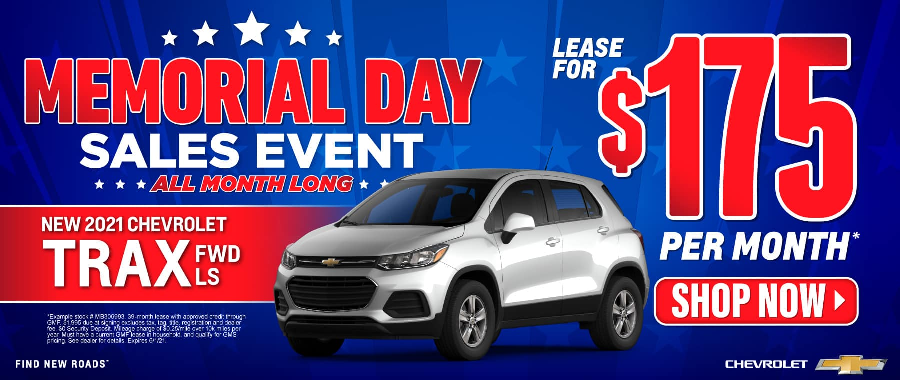 New 2021 Chevy Trax - Only $175 a month - Act Now