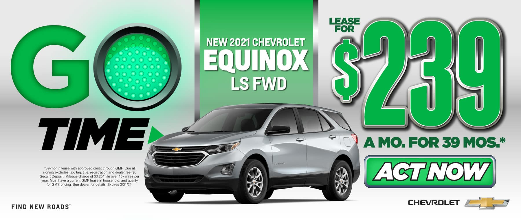 New 2021 Chevy Equinox - Only $239 a month - Act Now