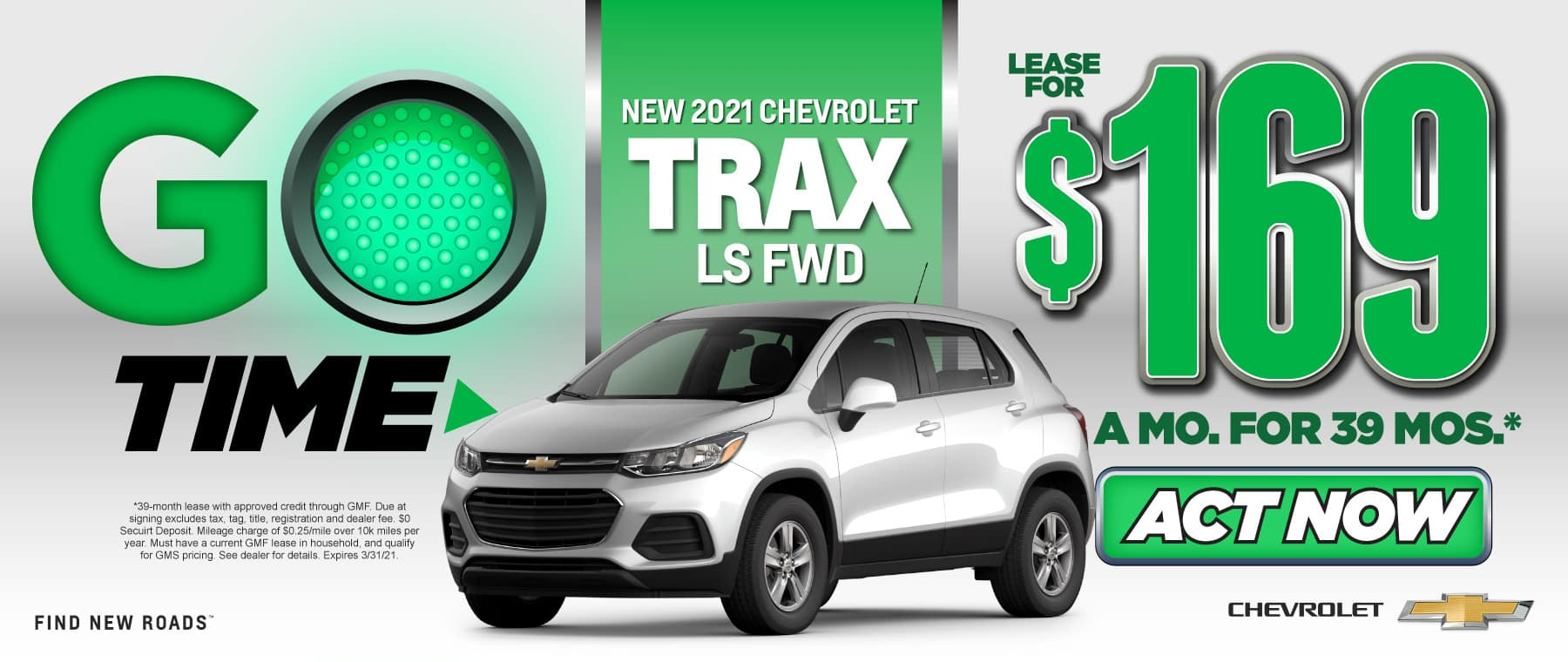 New 2021 Trax - Only $169 a month - Act Now