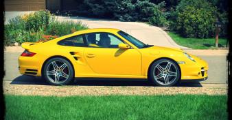 Speed Yellow Porsche 997 Turbo