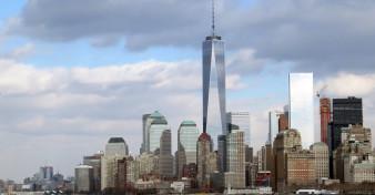 One World Trade Center dominates the skyline of Lower Manhatten