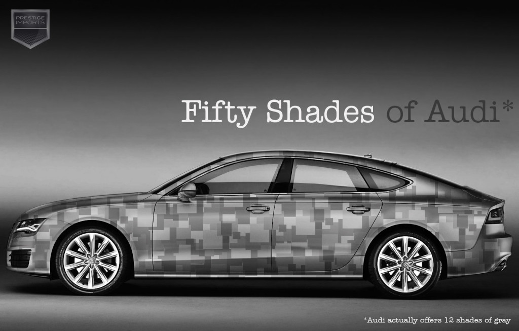 Fifty Shades of Grey and Audi, a tantalizing combination - A7 with gray Photoshop wrap