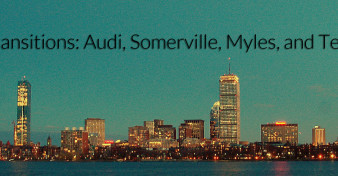 Transitions: Audi, Somerville, Myles, and Technology